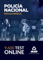 9600 Test online de la Escala Básica de la Policía Nacional. ACCESO 6 MESES (65% de ahorro)