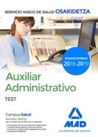 Auxiliar Administrativo de Osakidetza-Servicio Vasco de Salud. Test