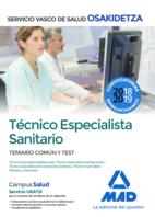 Técnico Especialista Sanitario de Osakidetza-Servicio Vasco de Salud. Temario común y test