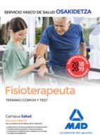 Fisioterapeuta de Osakidetza-Servicio Vasco de Salud. Temario común y test
