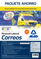 Paquete Ahorro Personal Laboral Correos. Ahorro de 72 € (Incluye Temarios 1 y 2; Test; Simulacros de Examen 1 y 2; Psicotécnico y Acceso a Campus Oro)