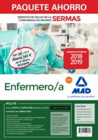 Paquete Ahorro Enfermero/a Servicio de Salud de la Comunidad de Madrid. Ahorro de 143 € (incluye Temarios 1, 2, 3 y 4; Test; Simulacros de Examen y acceso a Campus Oro)