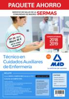 Paquete Ahorro Auxiliar de Enfermería Servicio de Salud de la Comunidad de Madrid. Ahorro de 95 € (incluye Temarios 1, 2 y 3; Test; Simulacros de Examen y acceso a Campus Oro)
