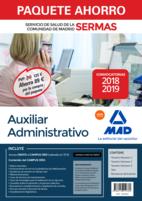 Paquete Ahorro Auxiliar Administrativo Servicio de Salud de la Comunidad de Madrid. Ahorro de 89 € (incluye Temarios 1, 2 y 3; Test; Simulacros de Examen y acceso a Campus Oro)