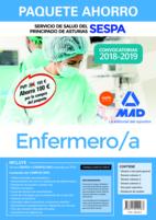 Paquete Ahorro Enfermero/a del Servicio de Salud del Principado de Asturias (SESPA). Ahorra 100€ (incluye Temario y test Parte General; Temario Parte Específica Volúmenes 1, 2 y 3; Test Parte Específica; Simulacros de examen y acceso a Campus Oro)
