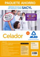 Paquete Ahorro Celador del Servicio de Salud de Castilla y León. Ahorra 55 € (Temario volúmenes 1 y 2; Test; Simulacros de examen; acceso a Campus Oro)