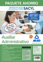 Paquete Ahorro Auxiliar Administrativo del Servicio de Salud de Castilla y León. Ahorra 72 € (Temario volúmenes 1, 2 y 3; Test; Simulacros de examen; acceso Campus Oro)
