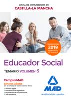 Educador Social  de la Junta de Comunidades de Castilla-La Mancha. Temario específico.Volumen 3