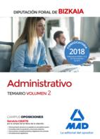 Administrativo de la Diputación Foral de Bizkaia. Temario volumen 2