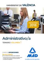 Administrativo de la Universitat de València. Temario volumen 1