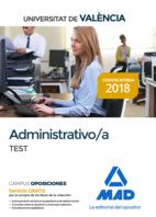 Administrativo de la Universitat de València. Test