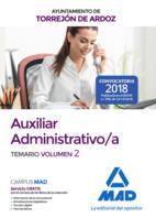 Auxiliar Administrativo/a del Ayuntamiento de Torrejón de Ardoz. Temario volumen 2