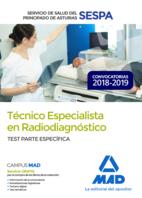 Técnico Especialista en Radiodiagnóstico del Servicio de Salud del Principado de Asturias (SESPA). Test Parte Específica