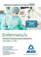 Enfermero/a del Servicio Andaluz de Salud. Temario intensivo parte específica volumen 3  y test