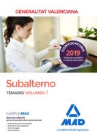 Subalterno de la Generalitat Valenciana. Temario volumen 1