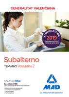 Subalterno de la Generalitat Valenciana. Temario volumen 2