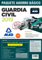 Paquete Ahorro BÁSICO Guardia Civil 2019. Ahorra 81 €. (incluye Temarios 1, 2 y 3; Test; Simulacros de Examen 1 y 2; y acceso a Curso Oro)