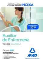 Auxiliar de Enfermería del Instituto Nacional de Gestión Sanitaria (INGESA). Temario volumen 2