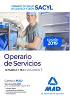 Operario de Servicios del Servicio de Salud de Castilla y León (SACYL). Temario y test volumen 1