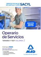 Operario de Servicios del Servicio de Salud de Castilla y León (SACYL). Temario y test volumen 2