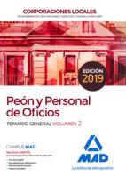 Peón y Personal  de Oficios de Corporaciones Locales. Temario General Volumen 2