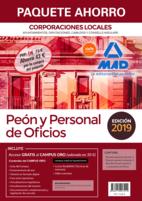 Paquete Ahorro Peón y Personal de Oficios de Corporaciones Locales. Ahorro de 43 € (incluye Temario General volúmenes 1 y 2; Test y Supuestos Prácticos; acceso gratis a Campus Oro)
