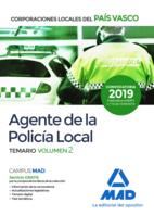 Agente de la Policía Local del País Vasco. Temario Volumen 2