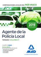 Agente de la Policía Local del País Vasco. Temario Volumen 3