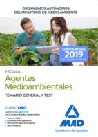 Escala de Agentes Medioambientales de Organismos Autónomos del Ministerio de Medio Ambiente. Temario general y test