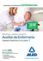 Auxiliar de Enfermería Personal Laboral (Grupo IV) de la Administración de la Comunidad Autónoma de Extremadura. Temario Específico Volumen 2