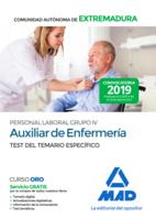 Auxiliar de Enfermería Personal Laboral (Grupo IV) de la Administración de la Comunidad Autónoma de Extremadura. Test del Temario Específico