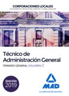 Técnico  de Administración General de Corporaciones Locales. Temario General Volumen 2