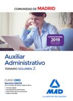 Auxiliar Administrativo de la Comunidad de Madrid. Temario Volumen 2