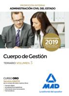 Cuerpo de Gestión de la Administración Civil del Estado (Promoción Interna). Temario volumen 3