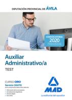 Auxiliar Administrativo de la Diputación Provincial de Ávila. Test