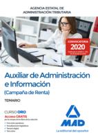 Auxiliar de Administración e Información (Campaña de Renta) de la Agencia Estatal de Administración Tributaria. Temario