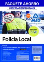 Paquete Ahorro Policía Local de Corporaciones Locales. Ahorro de 67 € (incluye Temario General volúmenes 1 y 2; Test del Temario General; Supuestos prácticos; Simulacros de examen y acceso gratis a Curso Oro)