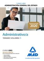 Administrativo de la Administración General del Estado (Turno Libre). Temario volumen 4