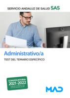 Administrativo/a del Servicio Andaluz de Salud. Test del temario específico