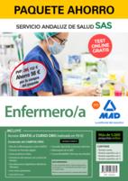 Paquete Ahorro y Test online GRATIS Enfermero/a del Servicio Andaluz de Salud. Ahorra 82 € (incluye Temario común; Temario específico volúmenes 1, 2 y 3; 5000 test online gratis y acceso a Curso Oro).