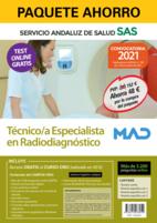 Paquete Ahorro y Test online GRATIS Técnico/a Especialista en Radiodiagnóstico del Servicio Andaluz de Salud. Ahorra 79 € (incluye Temario común; Temario específico volúmenes 1, 2 y 3; 3200 test online gratis y acceso a Curso Oro)