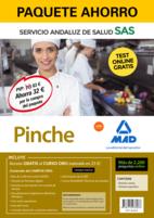 Paquete Ahorro y Test online GRATIS Pinche del Servicio Andaluz de Salud. Ahorra 64 € (incluye Temario común; Temario específico; 2200 test online gratis y acceso a Curso Oro).