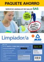 Paquete Ahorro y Test online GRATIS Limpiador/a del Servicio Andaluz de Salud. Ahorra 52 € (incluye Temario común; Temario específico; 1400 test online gratis y acceso a Curso Oro)