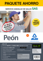 Paquete Ahorro y Test online GRATIS Peón del Servicio Andaluz de Salud. Ahorra 52 € (incluye Temario común; Temario específico; 1400 test online gratis y acceso a Curso Oro)