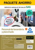 Paquete Ahorro y Test online GRATIS Personal de Lavandería y Planchado del Servicio Andaluz de Salud. Ahorra 52 € (incluye Temario común; Temario específico; 1400 test online gratis y acceso a Curso Oro)