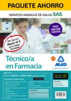 Paquete Ahorro y Test online GRATIS Técnico/a en Farmacia del Servicio Andaluz de Salud. Ahorra 77 € (incluye Temario común; Temario específico; 1800 test online gratis y acceso a Curso Oro)