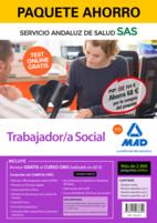 Paquete Ahorro y Test online GRATIS Trabajador/a Social del Servicio Andaluz de Salud. Ahorra 69 € (incluye Temario común; Temario específico volúmenes 1, 2 y 3; 2900 test online gratis y acceso a Curso Oro)
