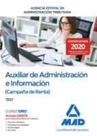 Auxiliar de Administración e Información (Campaña de Renta) de la Agencia Estatal de Administración Tributaria. Test