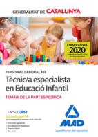 Personal laboral fix de tècnic/a especialista en educació infantil de la Generalitat de Catalunya. Temari de la part específica