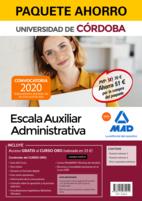 Paquete Ahorro Escala Auxiliar Administrativa de la Universidad de Córdoba. Ahorra 51 € (incluye Temario volúmenes 1 y 2; Test y supuestos prácticos y acceso a Curso Oro)